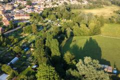 Ariel View of Parsonage St Allotment Site